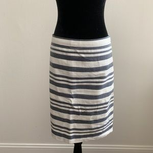 J Crew Pencil Striped Skirt Size 8